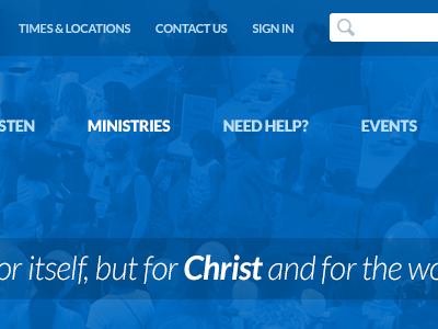 Blue Header church web