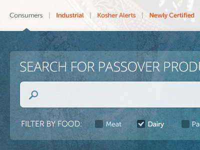 Search for Passover Products v2 search filter ui