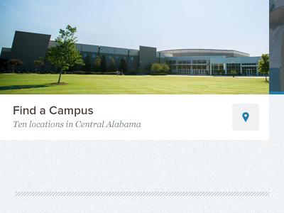 Find a Campus church location blue proxima nova