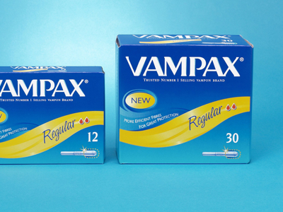 VAMPAX product packaging