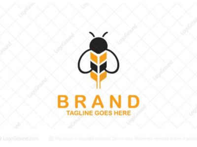 Wheat and Bee Logo