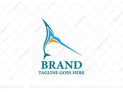 Marlin Swordfish Logo brand graphic design logos logo ocean fishes fish swordfish logo swordfish marlin logo marlin
