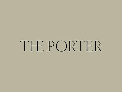 The Porter typogaphy logo charleston apartment idenity brand development
