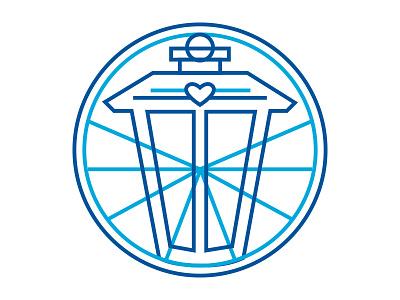 Atlanta Beltline Give Light Campaign Logo atlanta badge light blue lantern