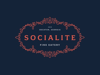Socialite - Restaurant Identity Design logo design branding typography design logo