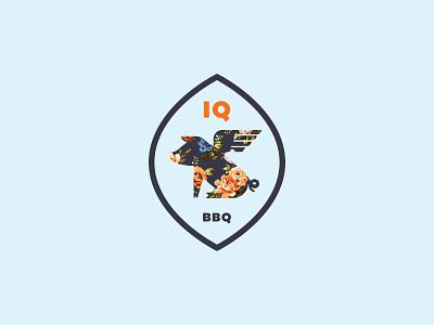 IQ BBQ restaurant logo restaurant barbecue bbq oink pig