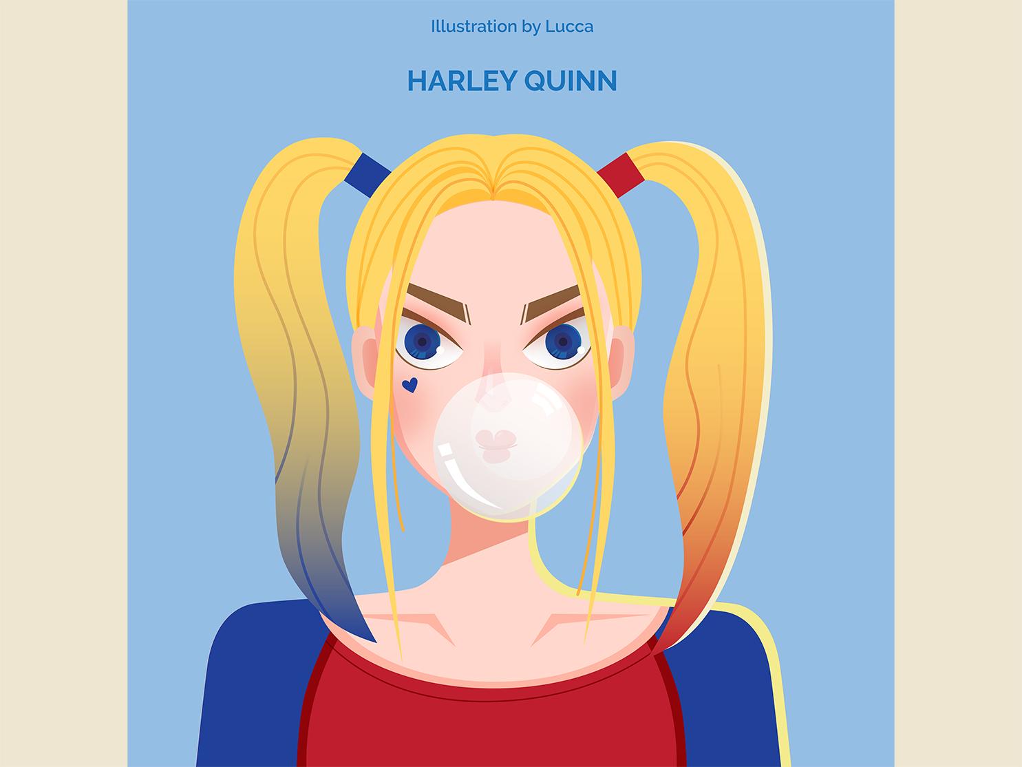 Harley Quinn movie design vector illustration