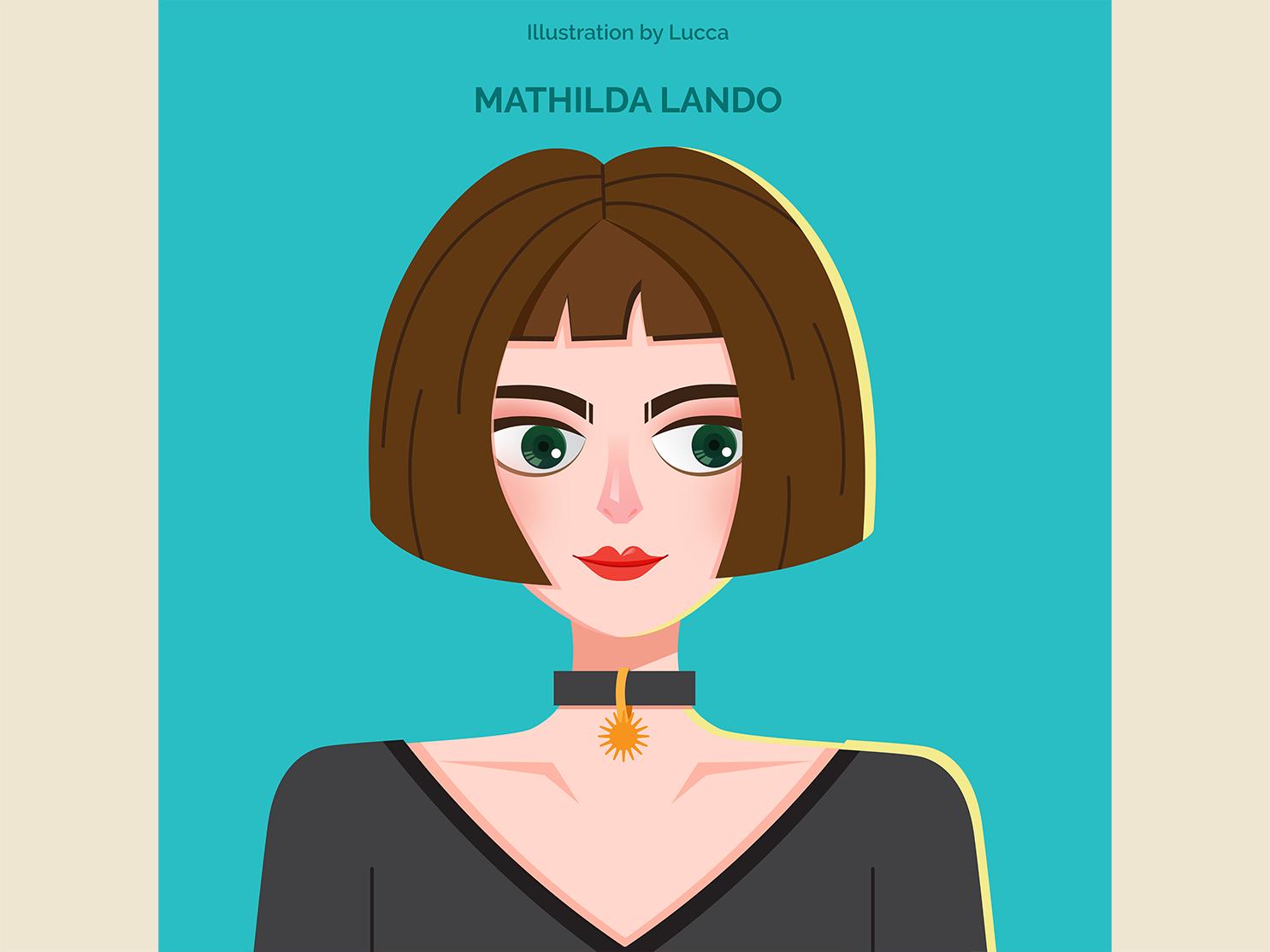 Mathilda Lando movie design vector illustration