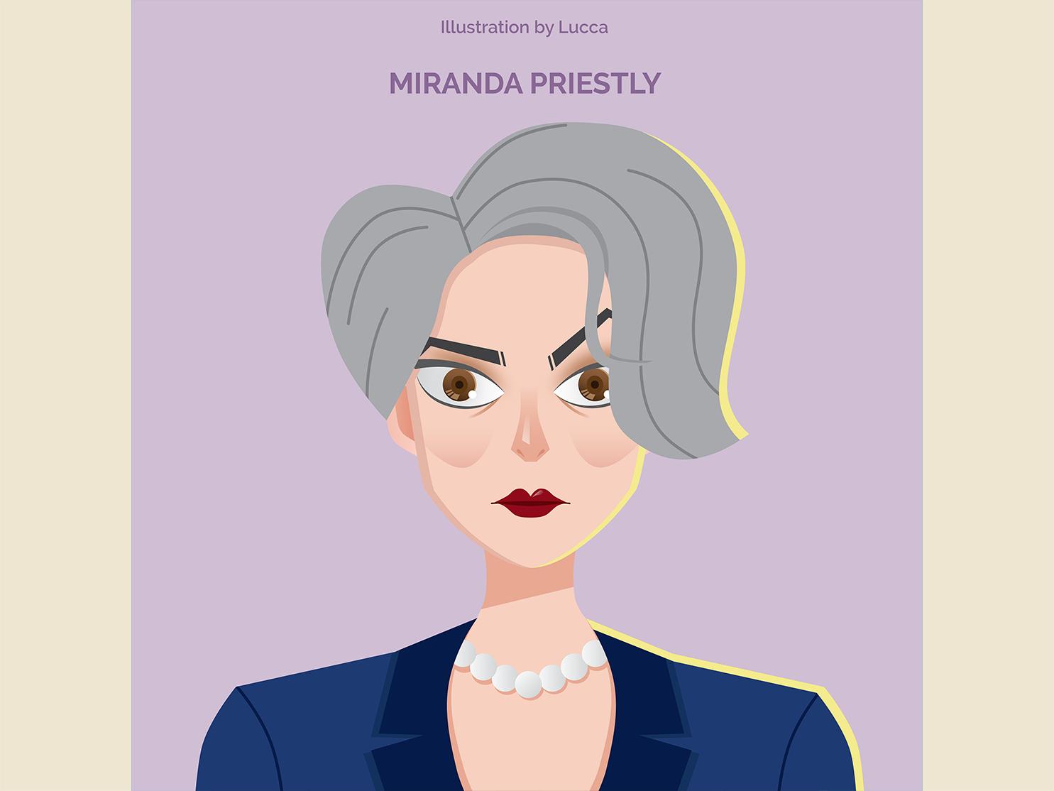 Miranda Priestly movie design vector illustration
