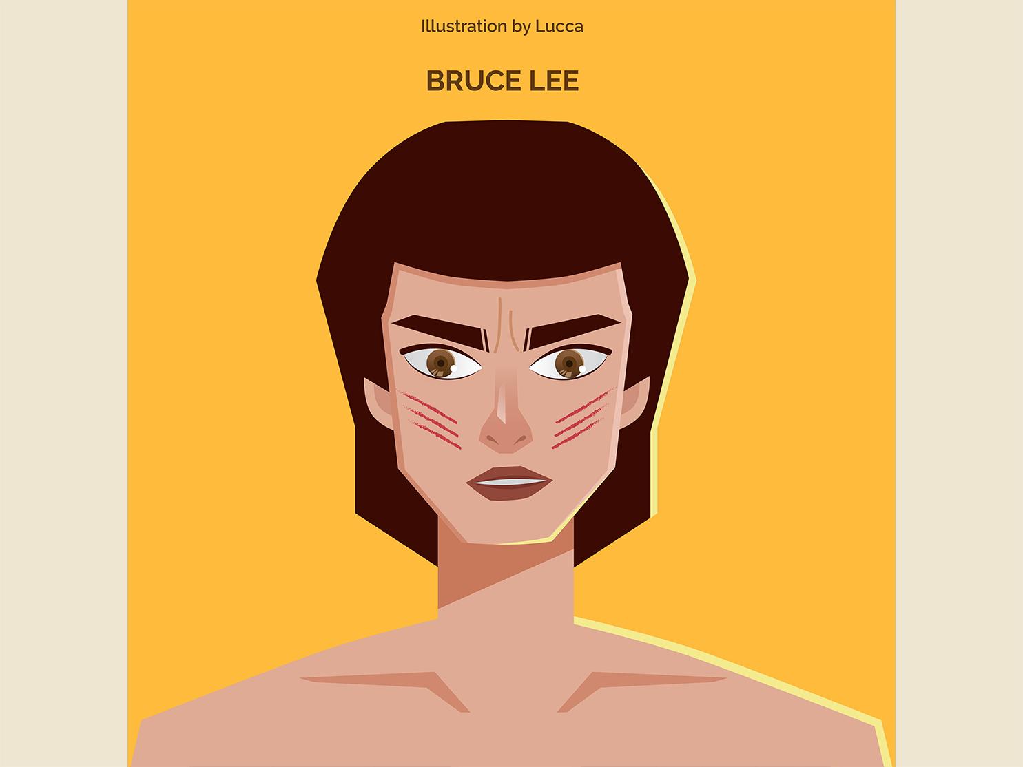 Bruce Lee movie vector design illustration