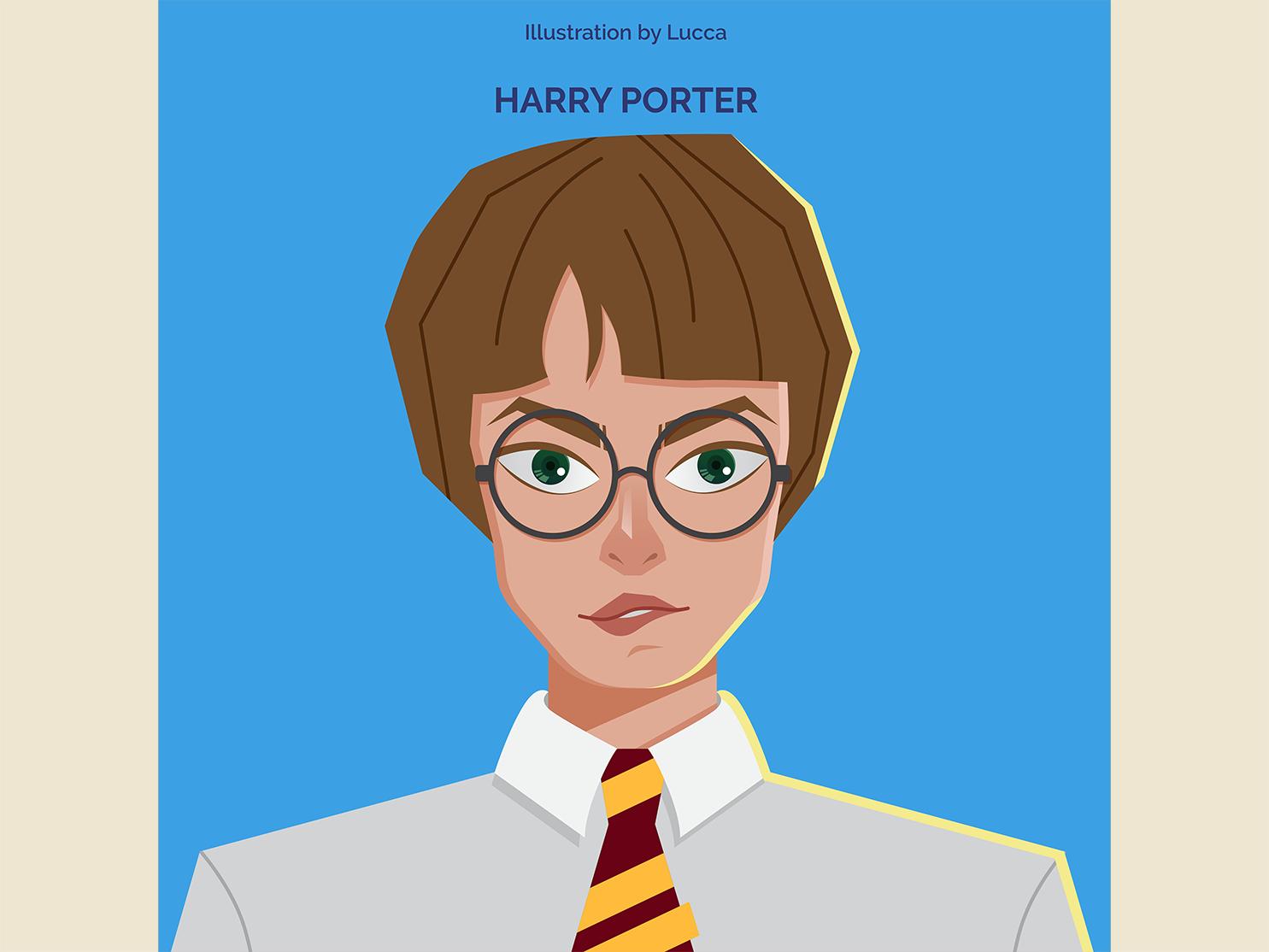 Harry Porter movie vector design illustration
