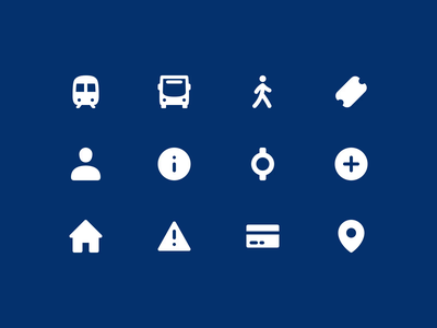 First Bus Iconography app journey train bus icon set iconography transport first bus future platforms nudds
