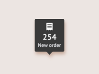 Pizza Order indicator receipt ingredients status progress after effects ui app food order pizza animation nudds