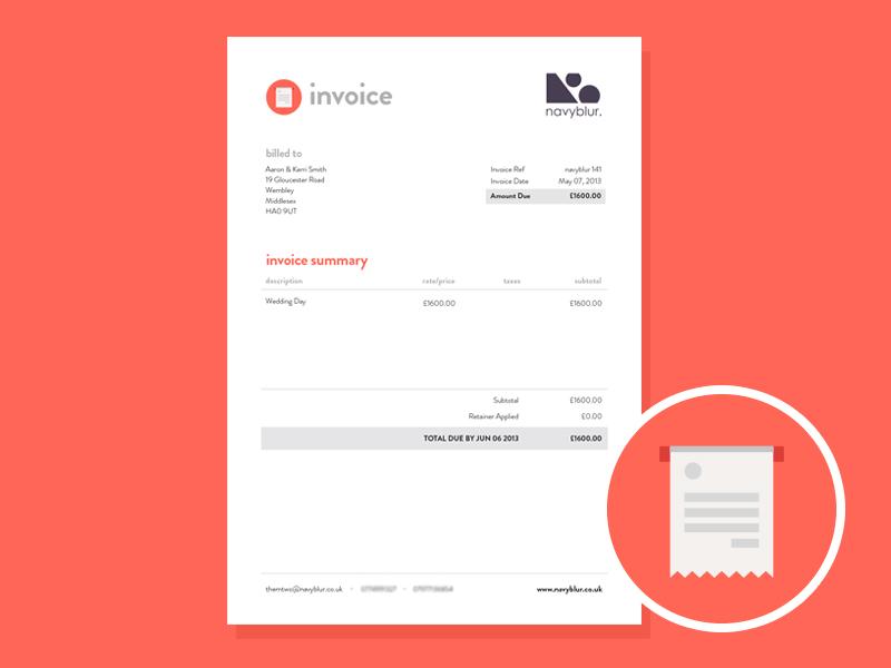 invoice design by samuel nudds