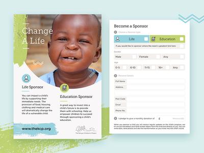 Child Sponsorship Cards by Samuel Nudds Dribbble – Sponsorship Cards