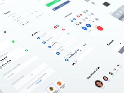 10 UI Kit sport camera loading search branding typing list buttons guidelines ui kit nudds