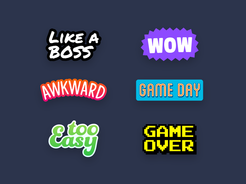 Reaction Stickers fun game over game day reactions sport stickers nudds