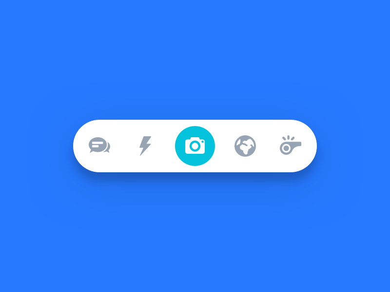 Bottom Bar live discover world explore chat camera nav menu navigation floating bottom bar nudds