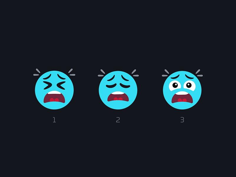 Expressions emojis faces oh no omg reactions expression nudds
