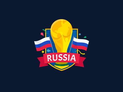 World Cup Sticker fifa badge shield flag sport football sticker world cup russia nudds