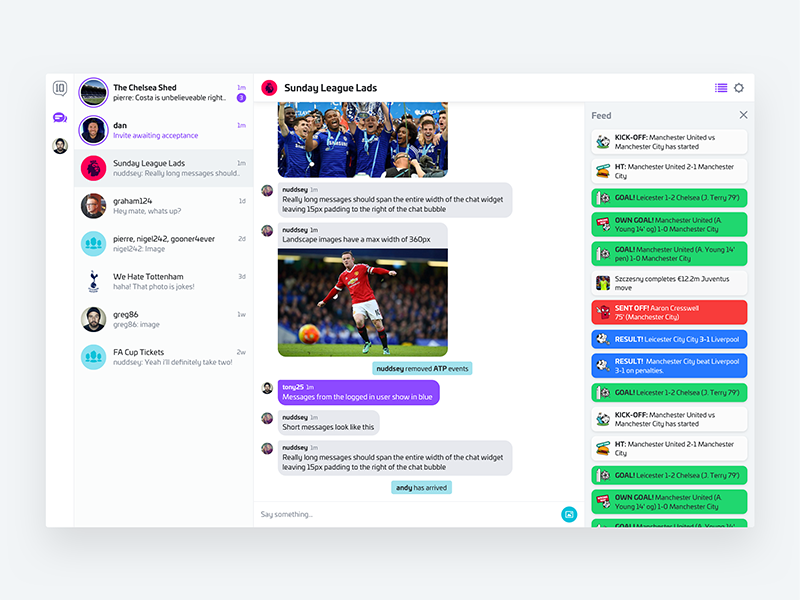 Web chat client lr