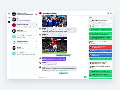 Web Chat Client goal feed photo messages desktop list sport client chat web nudds