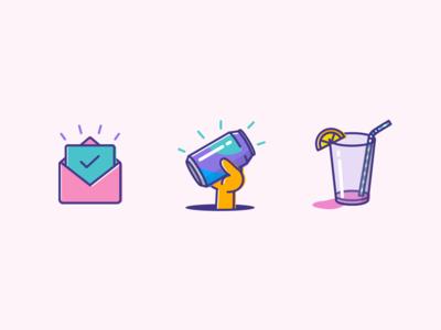 Illustrations grab hand pop cocktail drink soda glass email success confirmation illustration nudds