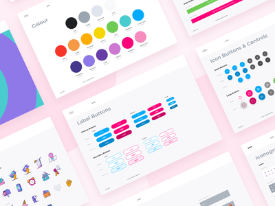 UI Kit components iconography colour palette icon button guidelines ui kit ui library buttons nudds