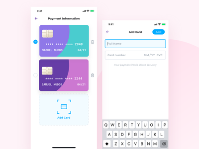 Payment Method stripe trash edit apple card credit card bank card add card payment nudds
