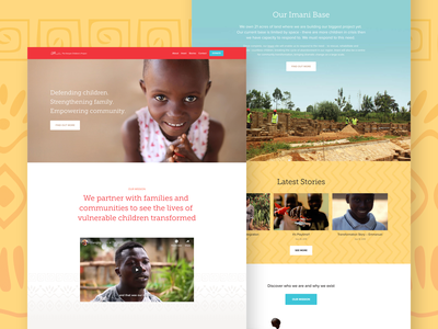 Landing Page squarespace pattern kenya blog charity banner home website landing non profit africa nudds