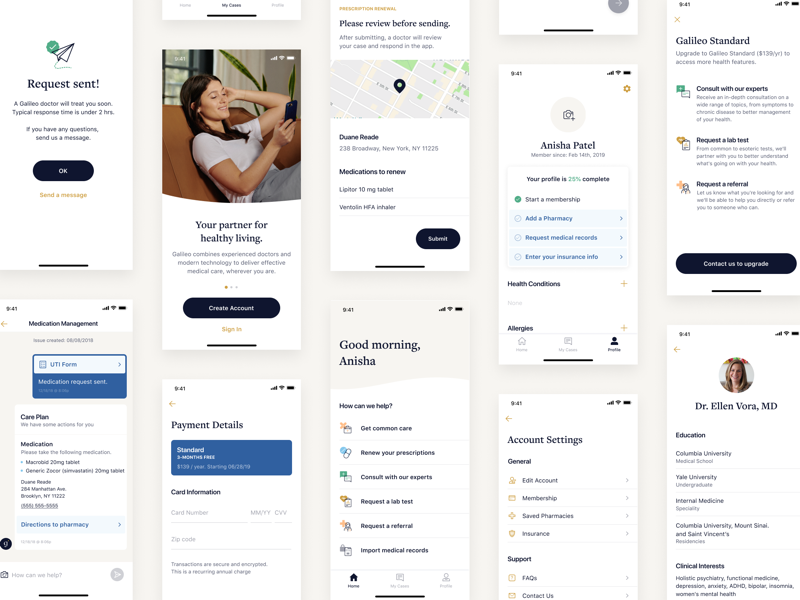 Healthcare App medical app figma verification prescription map messaging payment settings onboarding home healthcare nudds