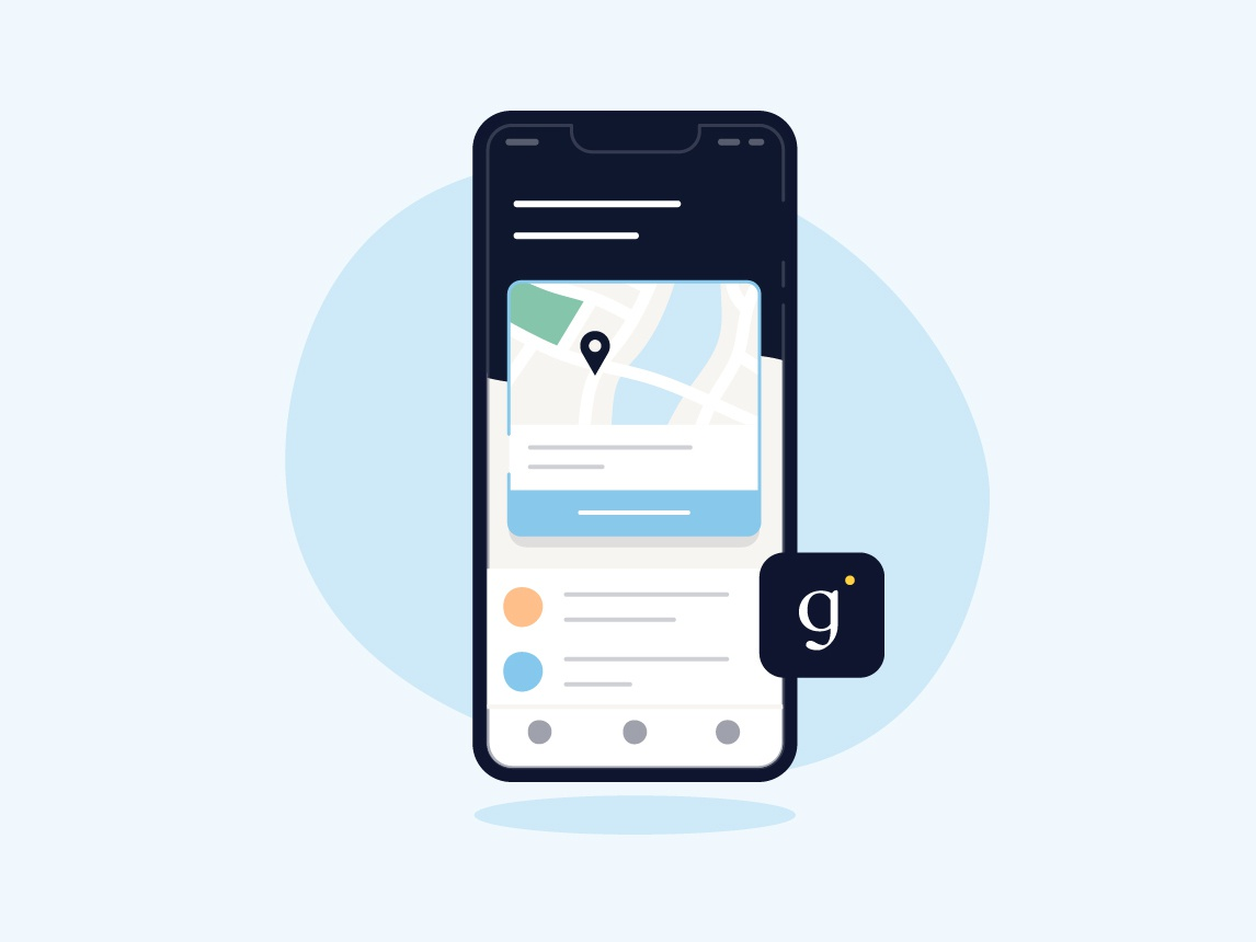 Conceptual Home Screen galileo health medical healthcare card map app home illustration nudds