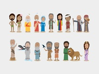 Bible Character Illustrations