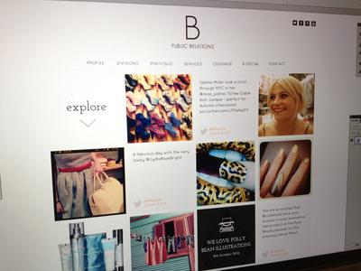 BPR Social Page social instagram video nudds webdesign ui square layout 4 column fashion twitter feed samuel nudds
