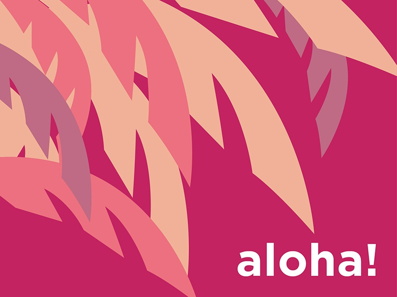 aloha! by Jerica on Dribbble