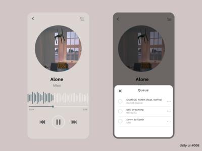 DailyUI #009 - Music Player music player dailyuichallenge dailyui 009 mobile app design dailyui