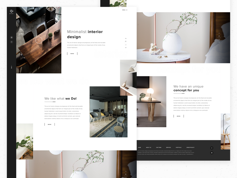 Modern Concept interior modern ui web design