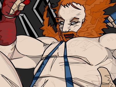 Valient Thorr Tour Poster WIP rock poster valient thorr illustration graphic art andre the giant val