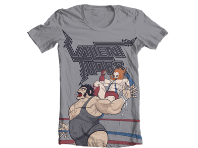 Andre the Giant VS Valient Himself T-Shirt Design t-shirt illustration vector wwe wwf andre the giant valient thorr valient himself