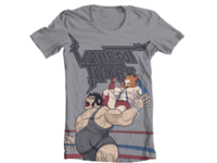 Andre the Giant VS Valient Himself T-Shirt Design