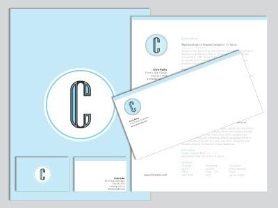 2011 Stationery stationery personal logo letterhead folder envelope business card