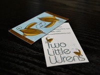 Two Little Wrens Business Card (Printed)