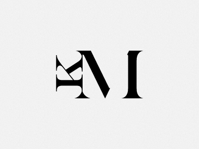 Km Monogram By Luke Harby On Dribbble