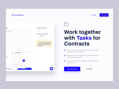 Contractbook - Tasks Page