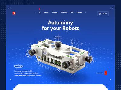 Sevensense - Landing Page 🤖 web design motion robot after effects sevensense home page design animation landing page layout www website web ui