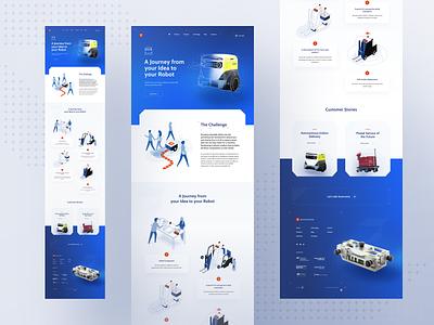 Sevensense - Solutions Page 🤖 www website web ui sevensense web design illustration robot layout landing page home page design