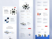 Sevensense - Products Page 🤖 webpage page design illustration robot sevensense branding ux landing page layout www website web ui