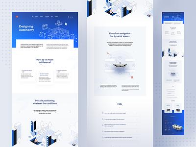 Sevensense - Technology Page 🤖 sevensense robot webpage page ux landing page illustration layout www website web ui