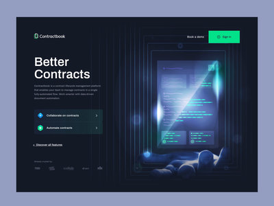 Contractbook Homepage 2.0 graphic design motion graphics layout illustration contractbook landing animation www branding design landing page website web ui home page