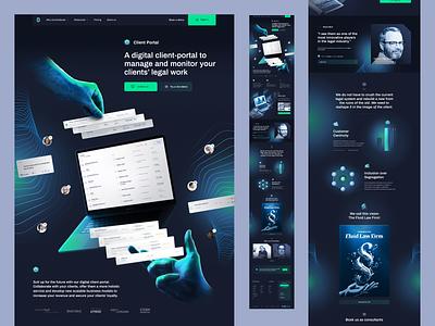 Client Portal - Contractbook contractbook branding design illustration landing page layout www website web ui
